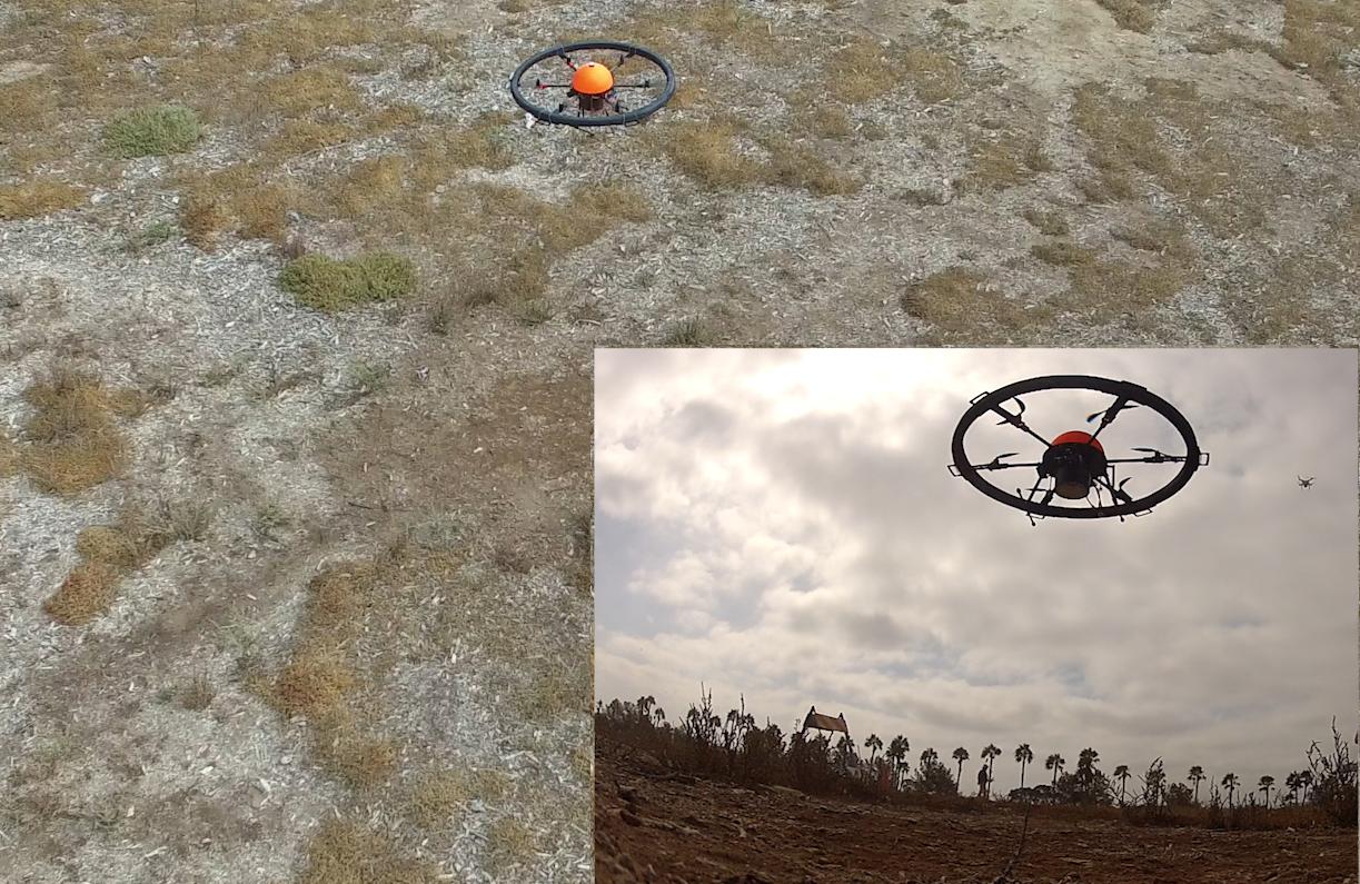 Flight of Custom drone