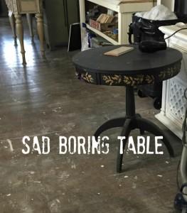 sad table