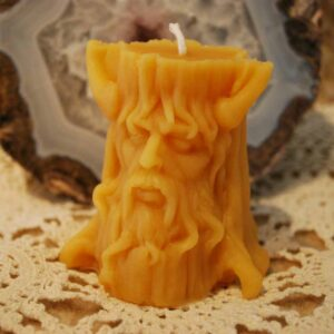 Beeswax Green Man Candle