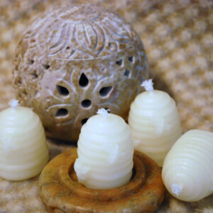 white small skep votives