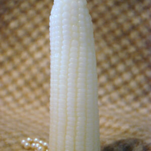 White Beeswax Corn Candle