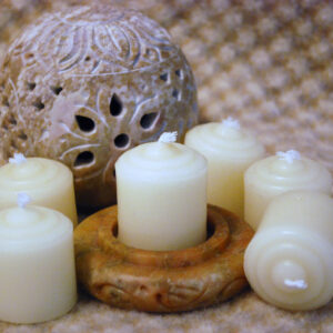 white beeswax small votives