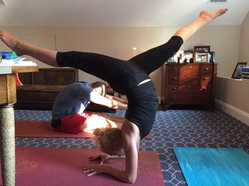 I am present in a forearm stand
