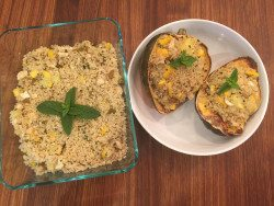 Summer Squash Quinoa or Stuffed Acorn Squash