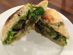 Veggie, Avocado and Pesto Ciabatta