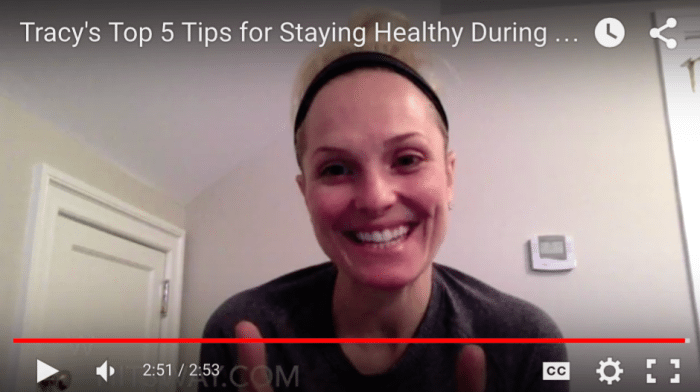 Tracy's Top 5 Tips for Staying Healthy During the Holiday Season