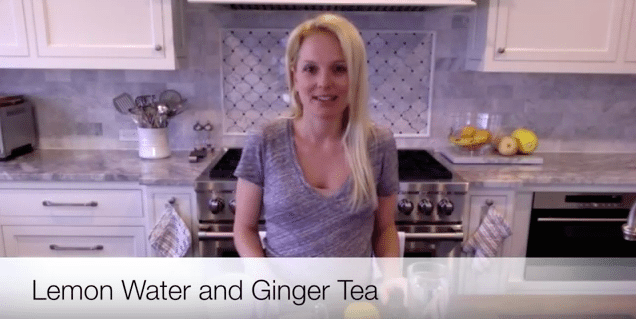 """Lemon Water and Ginger Tea- """"How To"""" Video"""