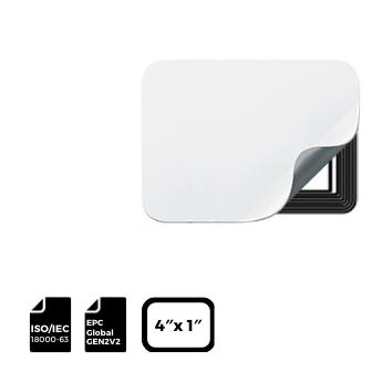 RFID Label Thermal Printable 4″ x 1″