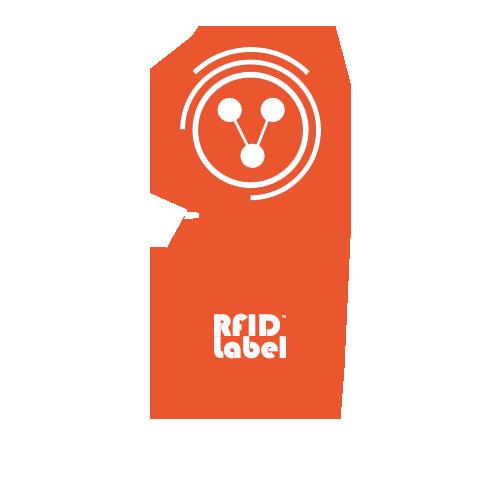 RFID LABEL 35 65 16mm NXP Ntag® TagTamper