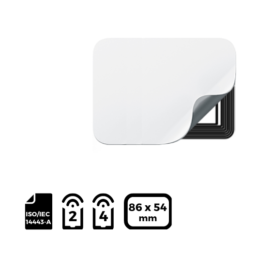 NFC LABEL 86x54mm for NXP NTAG®