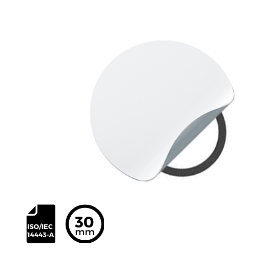 RFID LABEL ⌀30mm for ISO/IEC 14443-A