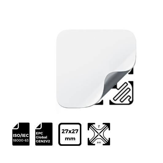 RFID LABEL 27x27mm with IMPINJ® Inlay B43