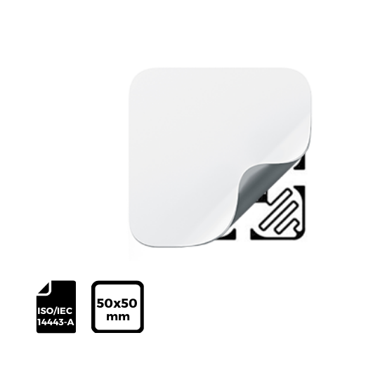 RFID LABEL 50x50mm for ISO IEC 14443-A