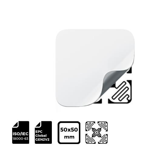 RFID LABEL 50x50mm with IMPINJ® Inlay H47