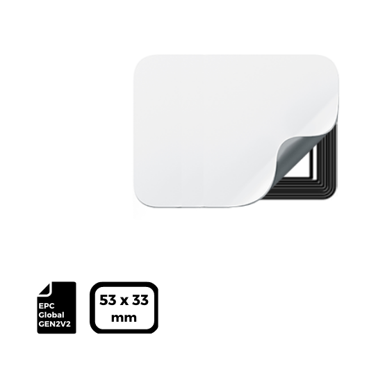 RFID LABEL 53x33mm for UHF