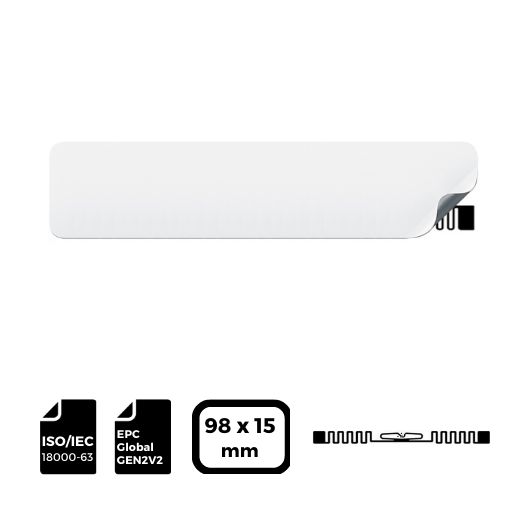 RFID LABEL 98x15mm with IMPINJ® Inlay E41