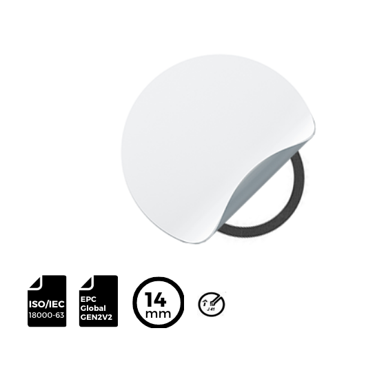 RFID LABEL diameter ⌀14mm with IMPINJ® Inlay J41