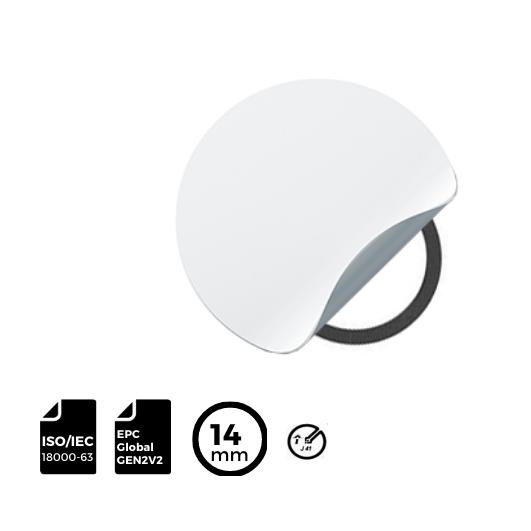 RFID LABEL ⌀14mm with IMPINJ® Inlay J41
