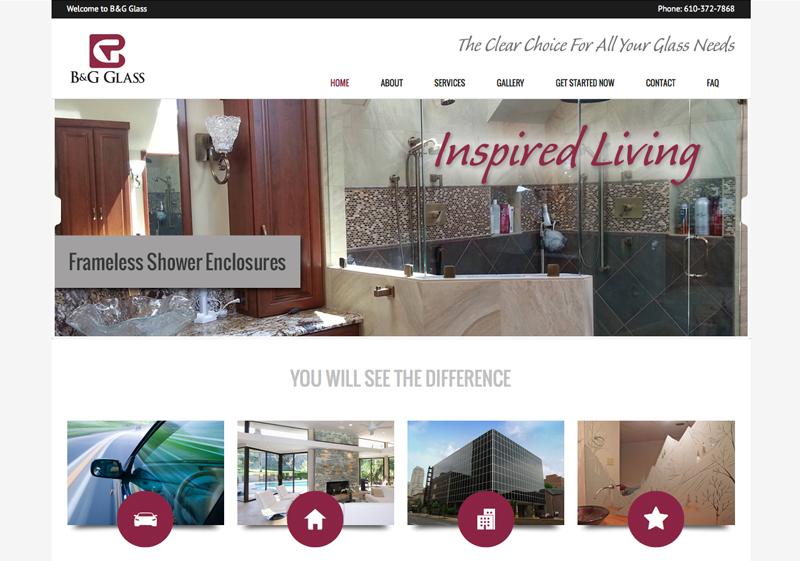 B&G Glass Website