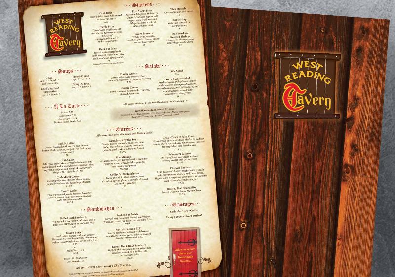 West Reading Tavern Menus