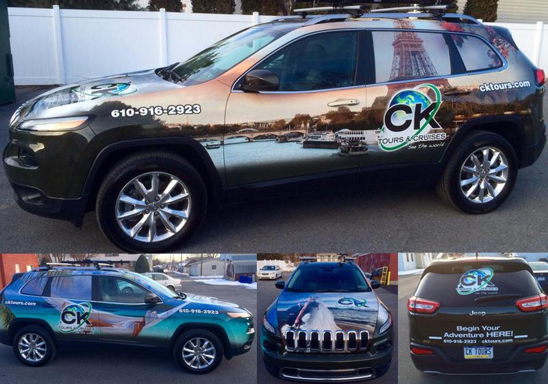 CK Tours Car Wrap