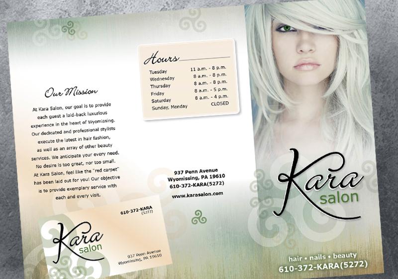 Kara Salon Logo & Collaterals