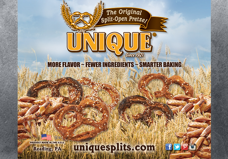 Unique Pretzel Bakery Banner