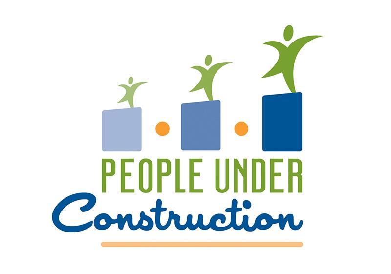 People Under Construction Logo Design