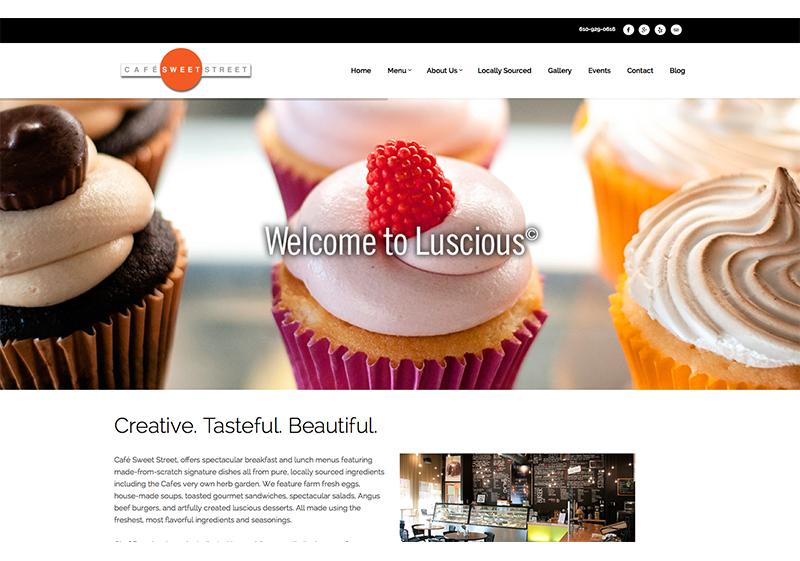 Cafe Sweet Street Website