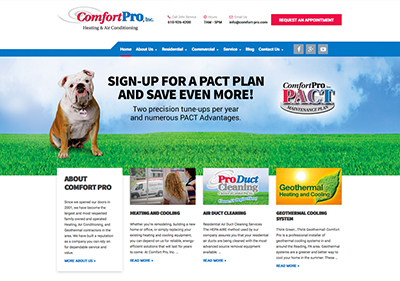 Comfort Pro Website