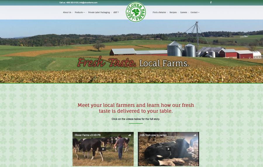 Clover Farms Website