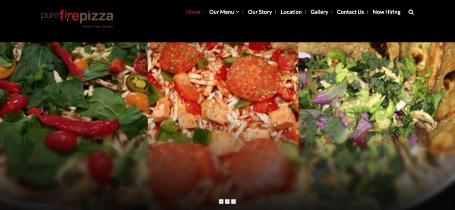 Pure Fire Pizza Website