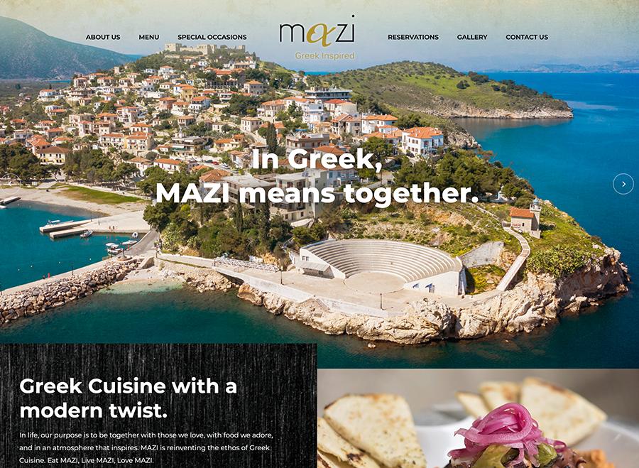 Mazi Greek Inspired