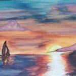 sunset painting 3