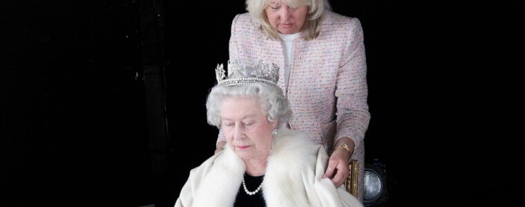 The Queen and Angela Kelly
