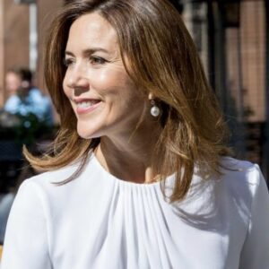 Crown Princess Mary White Top