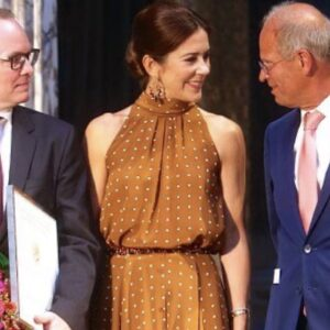 Crown Princess Mary Orange Polka Dot Dress