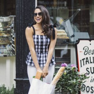 Meghan Markle Gingham Tank Top