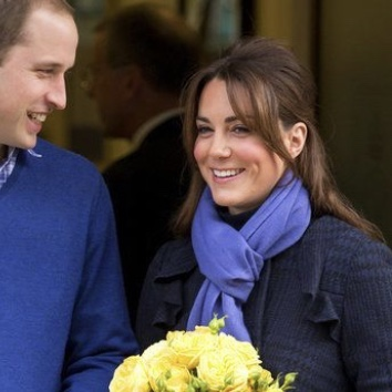 Kate Middleton Periwinkle Scarf
