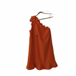 Victoria Beckham Target Orange One Shoulder Dress