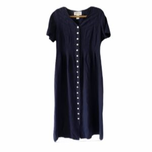 Meghan Markle Navy Button-Up Dress