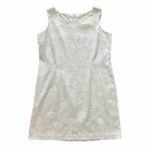 White Brocade Dress