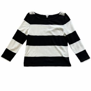 Black and White Striped J CREW Sweater