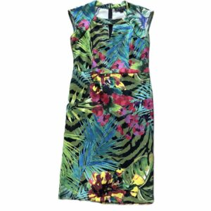 Tropical Floral Sheath Dress