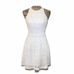 White Lace Dress Racerback