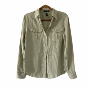 Ralph Lauren Green Linen Button-Down