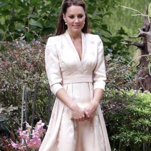 Kate Middleton Pink Stain Floral Dress