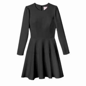Gal Meets Glam Celeste Black Puff Sleeve Dress