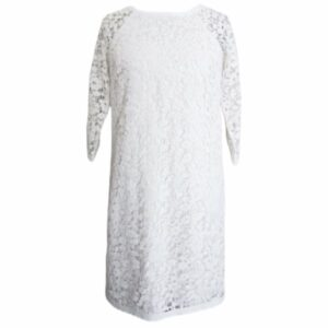 Ann Taylor White Lace Shift Dress