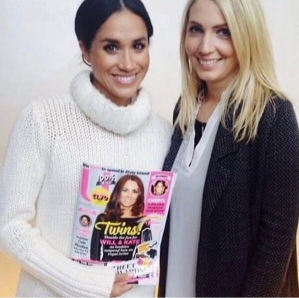 Meghan Markle White Fuzzy Sweater
